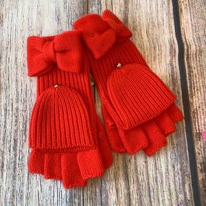 Kate Spade Solid Bow Pop Top Gloves ♠️ NWT! One Size